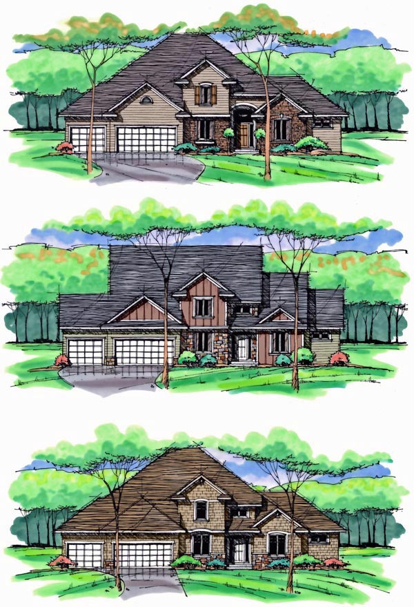 Colonial, Cottage, Country, Craftsman, European, Traditional House Plan 42564 with 4 Beds, 3 Baths, 3 Car Garage Picture 1