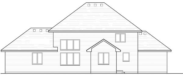 Colonial Cottage Country Craftsman European Traditional House Plan 42564 Rear Elevation