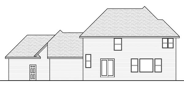 Traditional House Plan 42565 Rear Elevation