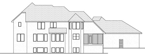Traditional House Plan 42566 Rear Elevation