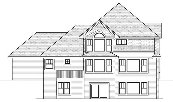 Traditional House Plan 42567 Rear Elevation