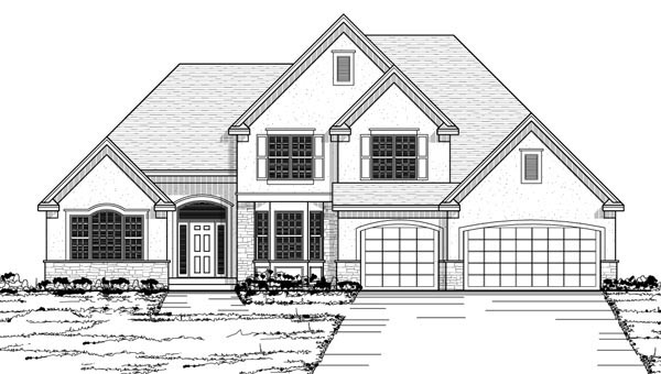Traditional House Plan 42568 with 3 Beds, 3 Baths, 3 Car Garage Picture 1