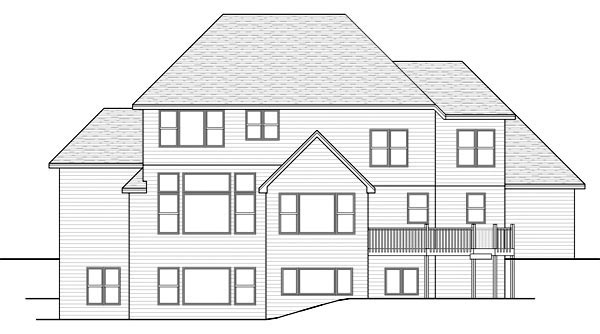 Traditional House Plan 42569 Rear Elevation