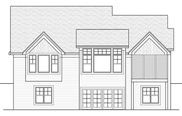 Traditional House Plan 42570 Rear Elevation