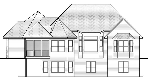 Traditional House Plan 42573 Rear Elevation
