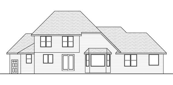 Traditional House Plan 42577 Rear Elevation