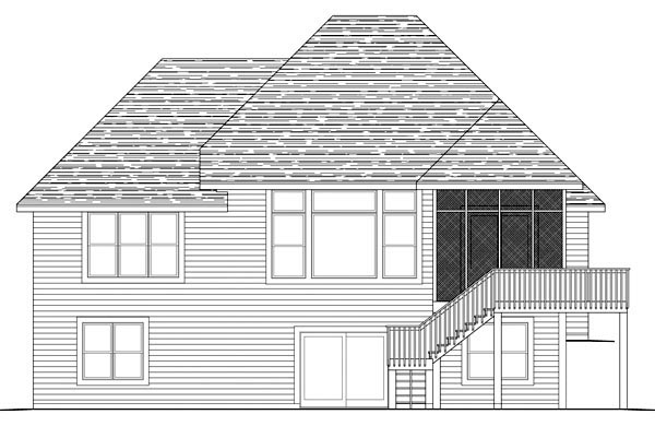 Traditional House Plan 42579 Rear Elevation