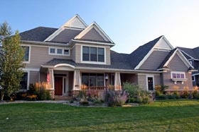 Traditional House Plan 42581 with 4 Beds, 3 Baths, 3 Car Garage Elevation