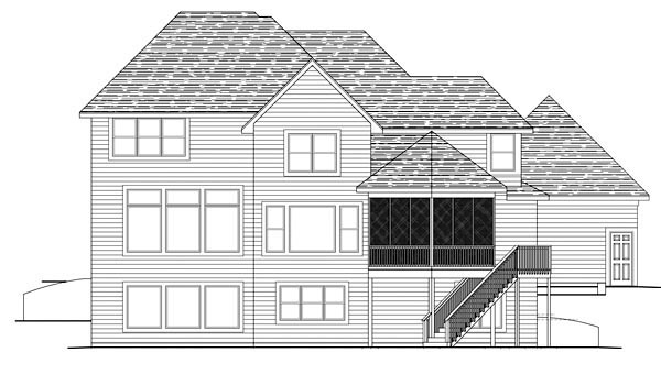 Traditional House Plan 42582 Rear Elevation