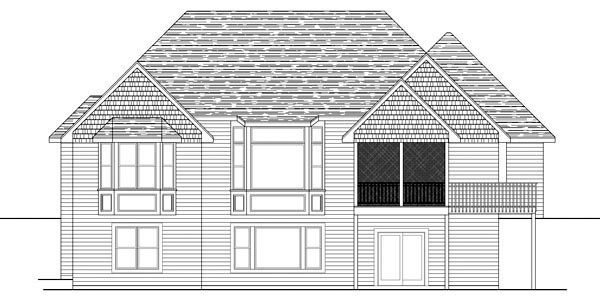 Traditional House Plan 42584 Rear Elevation
