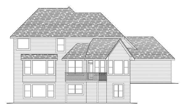 Traditional House Plan 42589 Rear Elevation