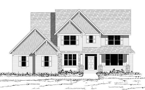 Traditional House Plan 42591 with 4 Beds, 3 Baths, 3 Car Garage Picture 1