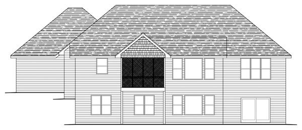 Traditional House Plan 42593 Rear Elevation
