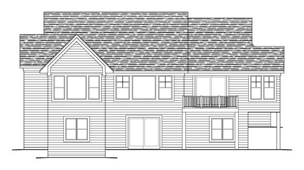 Traditional House Plan 42594 with 5 Beds, 5 Baths, 3 Car Garage Rear Elevation
