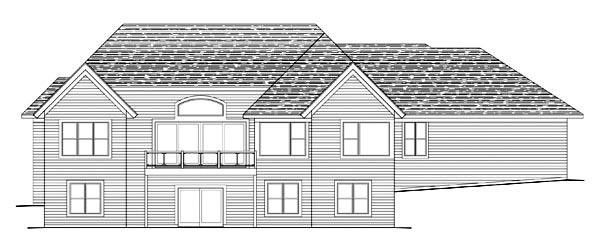 Traditional House Plan 42595 Rear Elevation