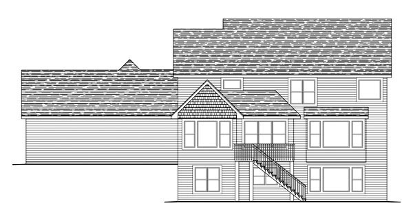 Traditional House Plan 42596 Rear Elevation