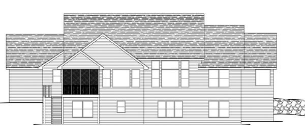 Traditional House Plan 42597 Rear Elevation