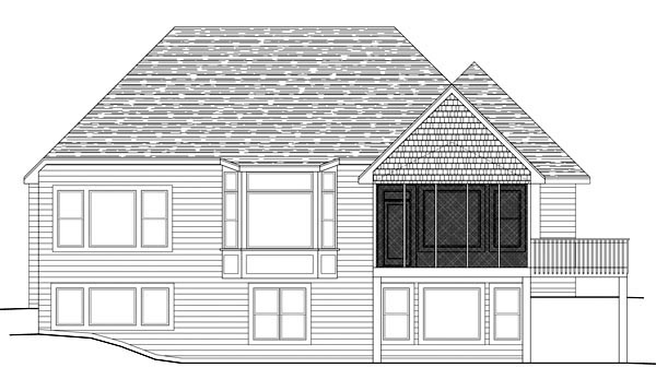 Traditional House Plan 42599 Rear Elevation