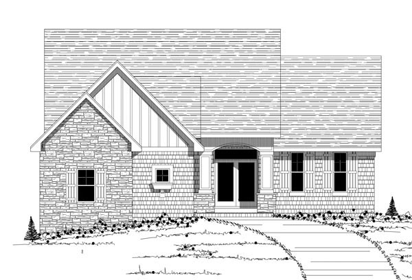 Traditional House Plan 42601 with 3 Beds, 3 Baths, 3 Car Garage Picture 1