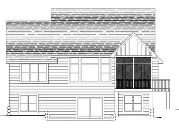 Traditional House Plan 42601 Rear Elevation