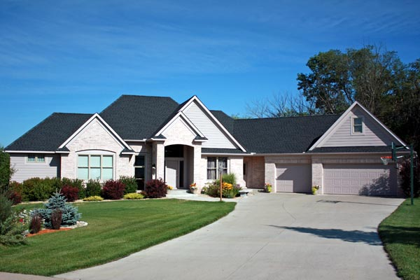 European House Plan 42602 with 4 Beds, 4 Baths, 3 Car Garage Elevation
