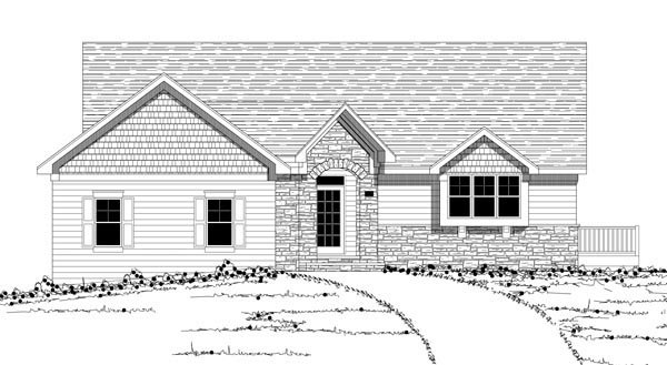 Traditional House Plan 42603 with 3 Beds, 3 Baths, 3 Car Garage Picture 2