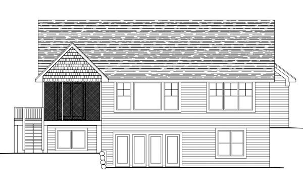 Traditional House Plan 42603 with 3 Beds, 3 Baths, 3 Car Garage Rear Elevation