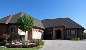 European House Plan 42605 with 3 Beds, 4 Baths, 3 Car Garage Elevation
