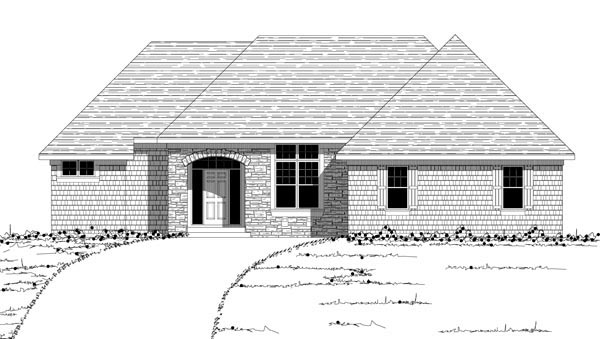 European House Plan 42607 with 3 Beds, 3 Baths, 2 Car Garage Picture 3