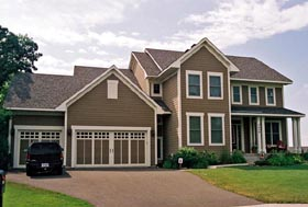 Traditional House Plan 42610 with 4 Beds, 3 Baths, 3 Car Garage Elevation