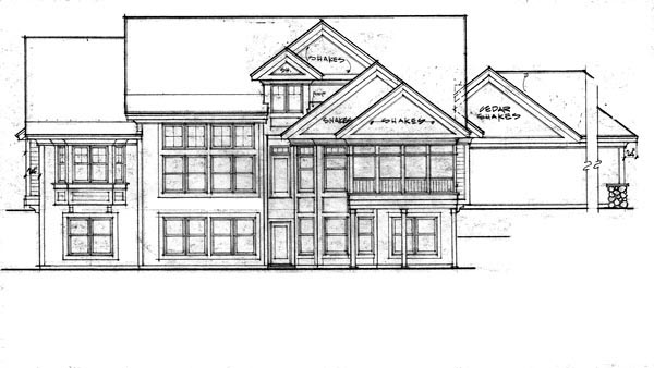 Traditional House Plan 42612 Rear Elevation