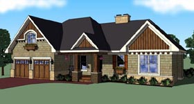 House Plan 42613 | Craftsman Style Plan with 1780 Sq Ft, 3 Bedrooms, 2 Bathrooms, 2 Car Garage Elevation