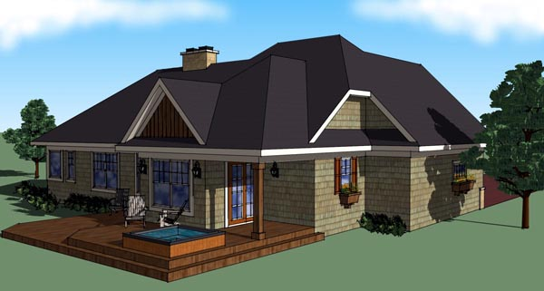 Craftsman House Plan 42613 Rear Elevation