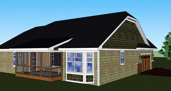 Traditional House Plan 42616 Rear Elevation