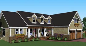 Traditional House Plan 42617 with 3 Beds, 3 Baths, 2 Car Garage Elevation