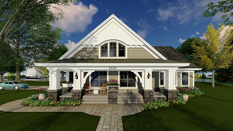 Bungalow Cottage Craftsman Traditional House Plan 42618 Elevation