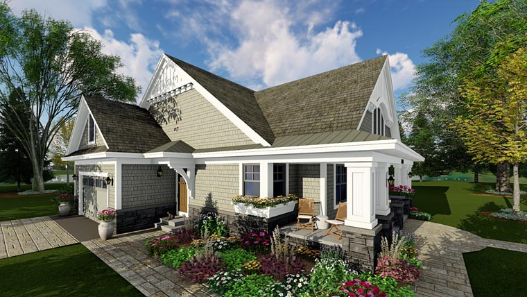 Bungalow cottage craftsman traditional house plan 42618 Traditional bungalow house plans