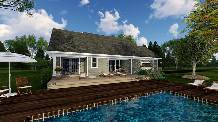 Bungalow Cottage Craftsman Traditional House Plan 42618 Rear Elevation