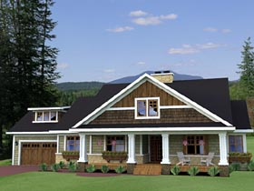Craftsman , Traditional House Plan 42619 with 3 Beds, 3 Baths, 2 Car Garage Elevation