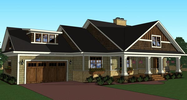 Craftsman Traditional House Plan 42619