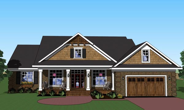 House Plan 42620 | Traditional Style Plan with 2244 Sq Ft, 3 Bedrooms, 2 Bathrooms, 2 Car Garage Elevation
