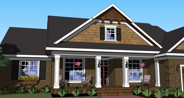 Traditional House Plan 42620 with 3 Beds, 2 Baths, 2 Car Garage Picture 1