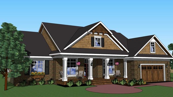Traditional House Plan 42620 with 3 Beds, 2 Baths, 2 Car Garage Picture 2
