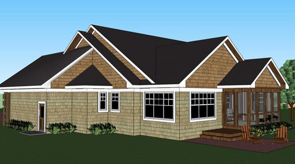Traditional House Plan 42620 with 3 Beds, 2 Baths, 2 Car Garage Picture 3