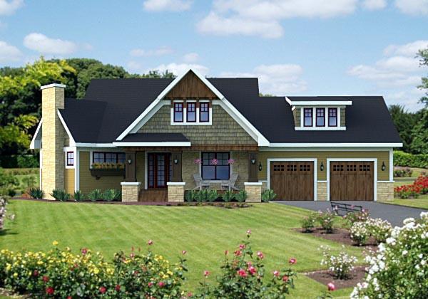 Craftsman House Plan 42621 Elevation