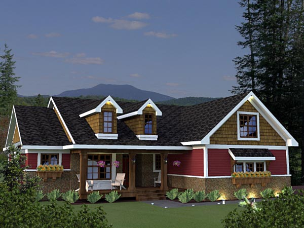 Craftsman Elevation of Plan 42623