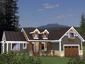 House Plan 42624 | Craftsman Style Plan with 1724 Sq Ft, 3 Bedrooms, 2 Bathrooms, 2 Car Garage Elevation