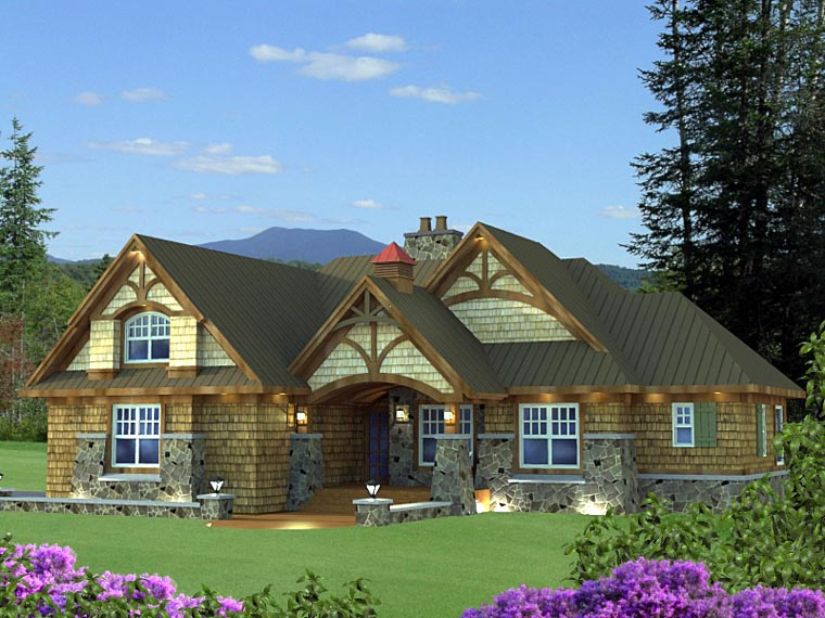 Craftsman House Plan 42625 Elevation