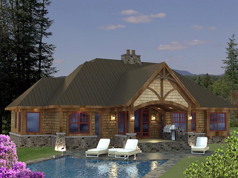 Craftsman House Plan 42625 Rear Elevation
