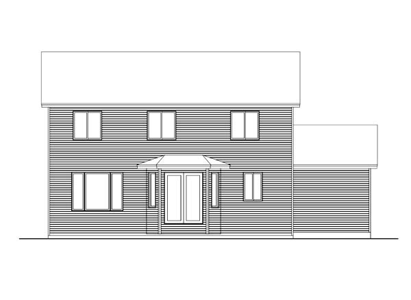 House Plan 42626 Rear Elevation
